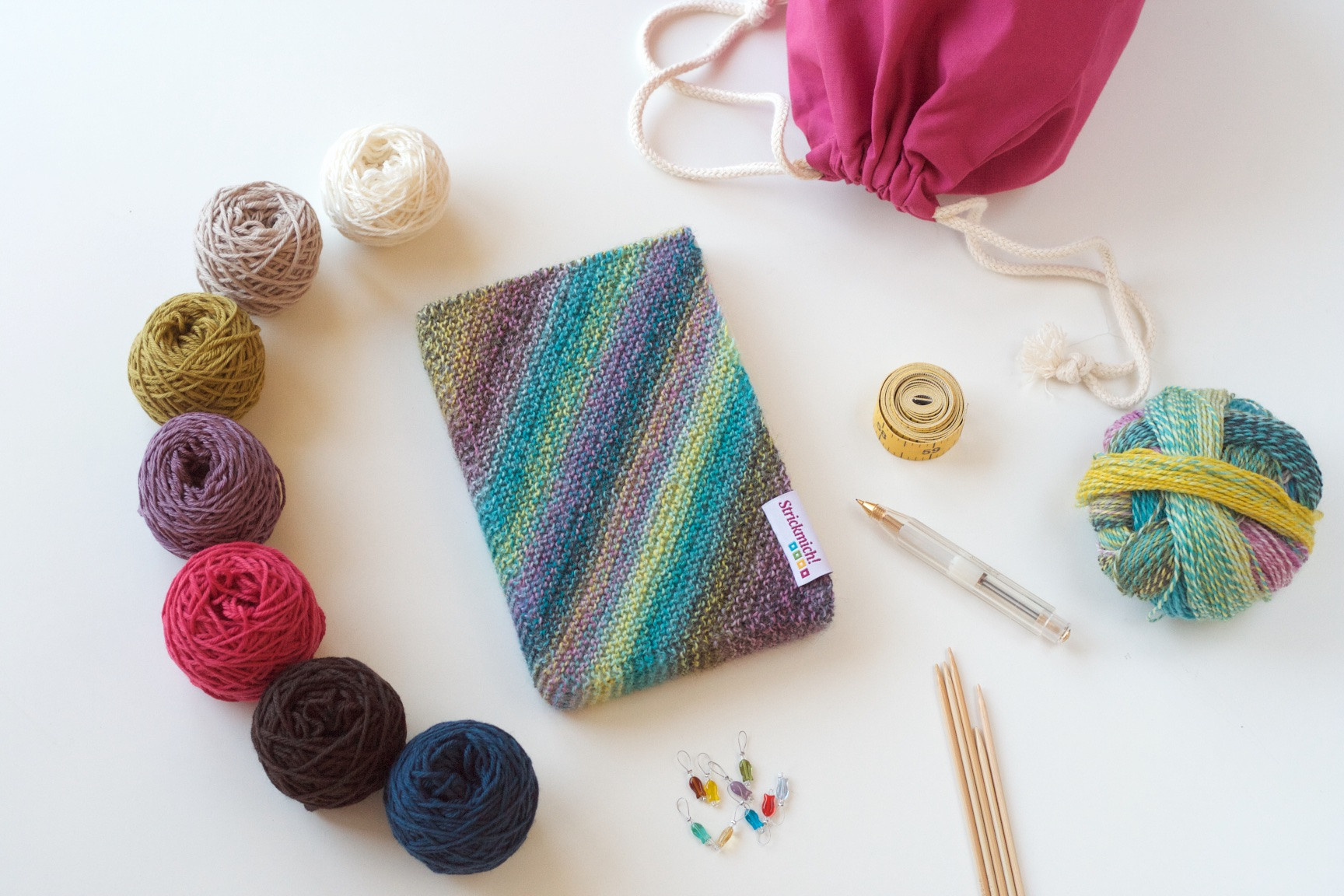 Book Cover Knitting Pattern ~ Cover your plans strickmich by martina behm